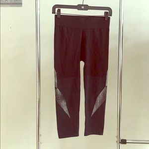 Trendy spandex pants with silver detailing